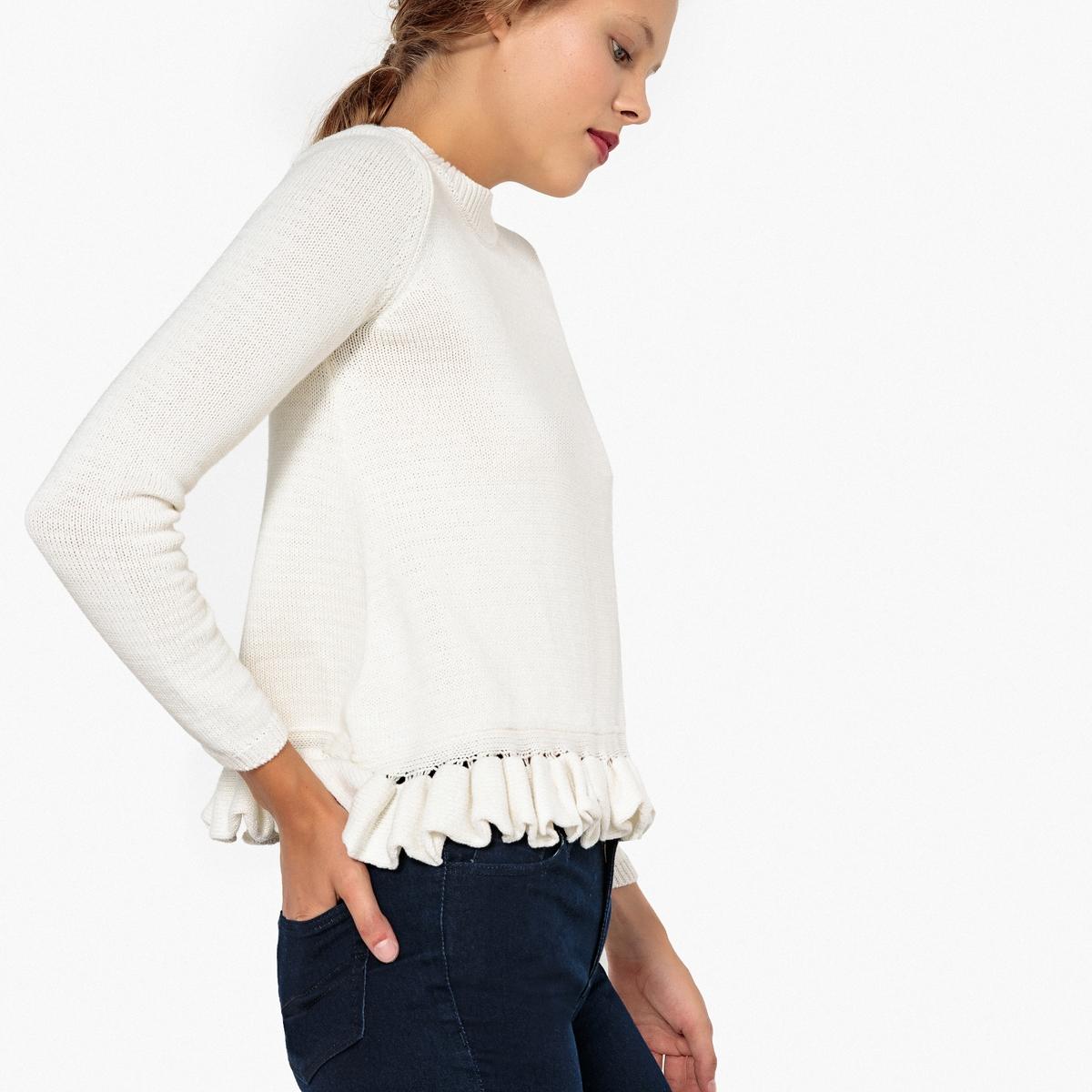 Пуловер с узором косы из трикотажа мулине MADEMOISELLE R