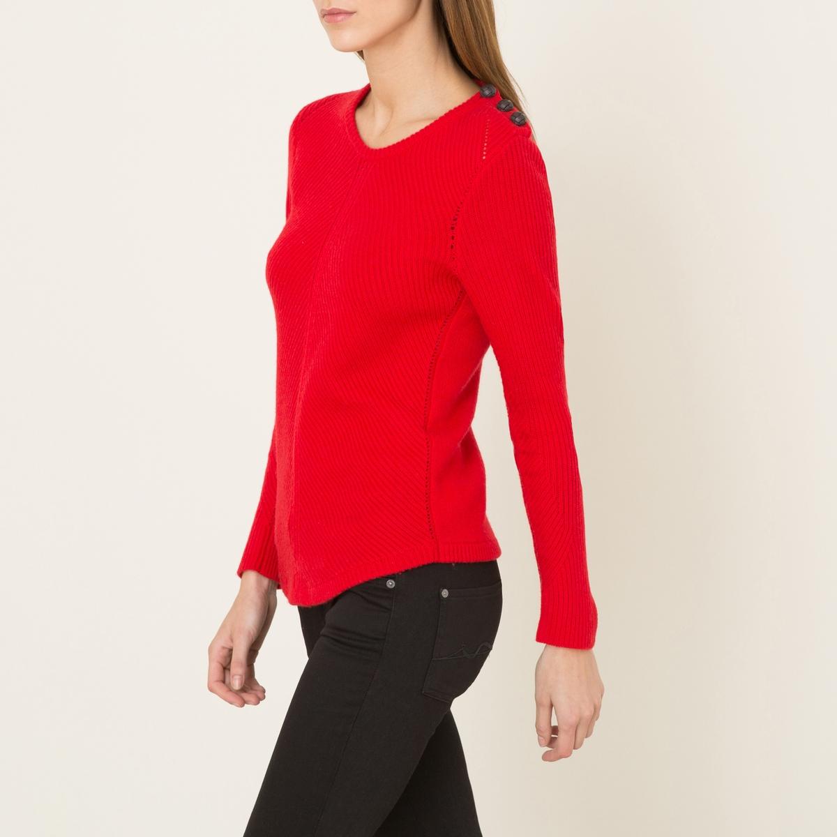 Пуловер ULYSSEСостав и описание    Материал : 90% шерсти, 10% кашемира   Марка : BA&amp;SH<br><br>Цвет: красный,экрю