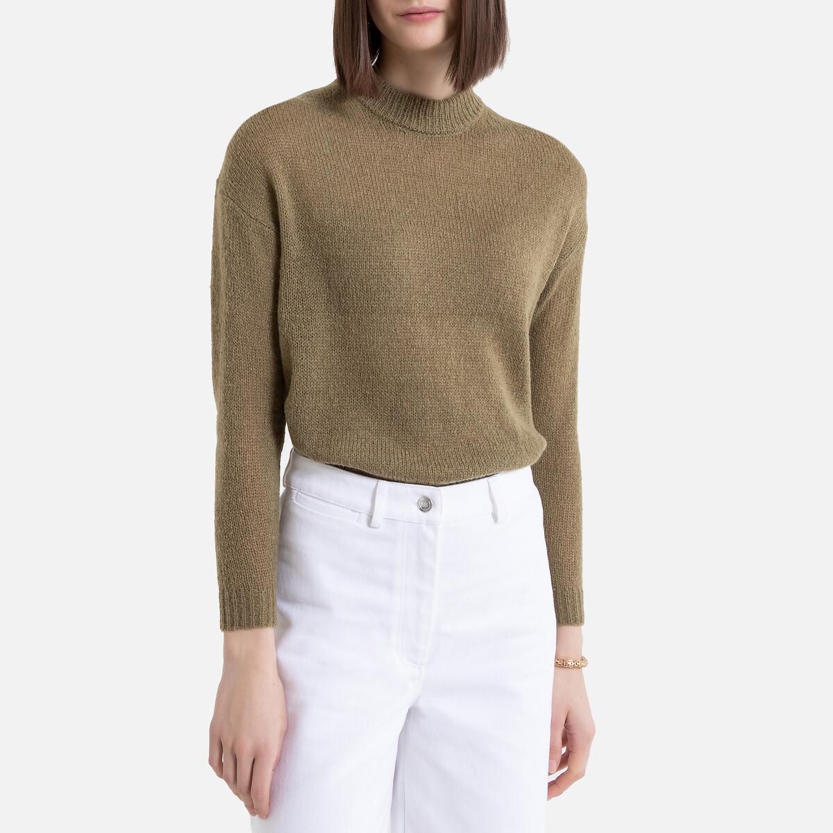 Jersey de punto grueso y cuello redondo