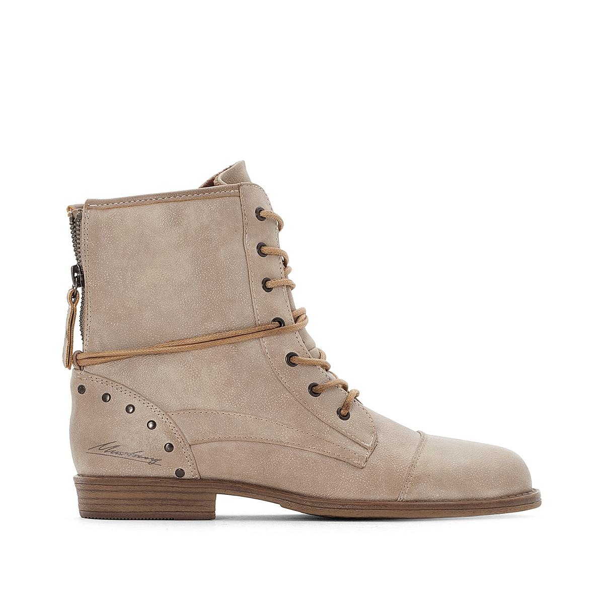 Ботинки на шнуровке балетки на шнуровке