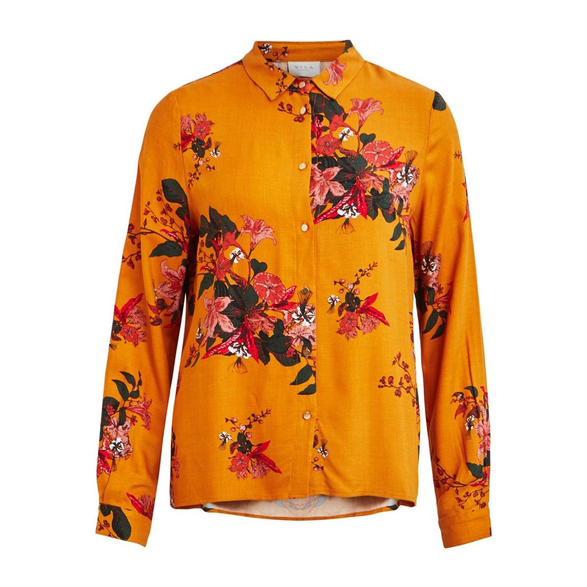 Camisa às flores, mangas compridas