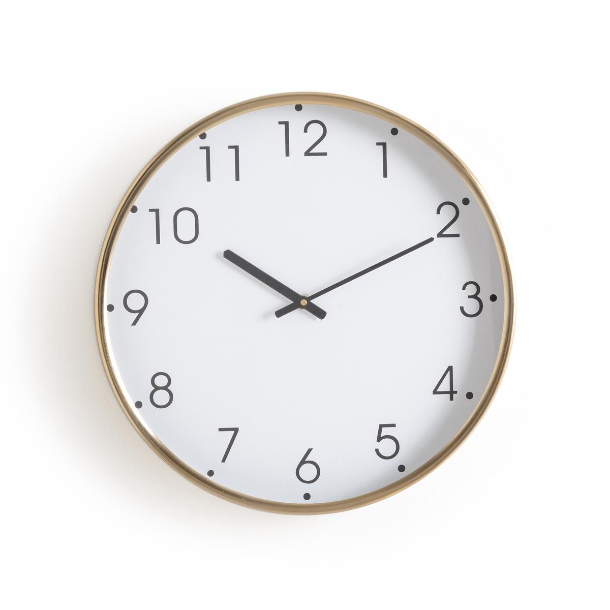 Часы настенные с отделкой под латунь Nattat бра из черного металла и металла с отделкой под латунь elori