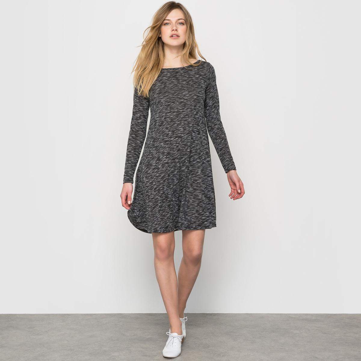 Платье из трикотажа фламе от La Redoute