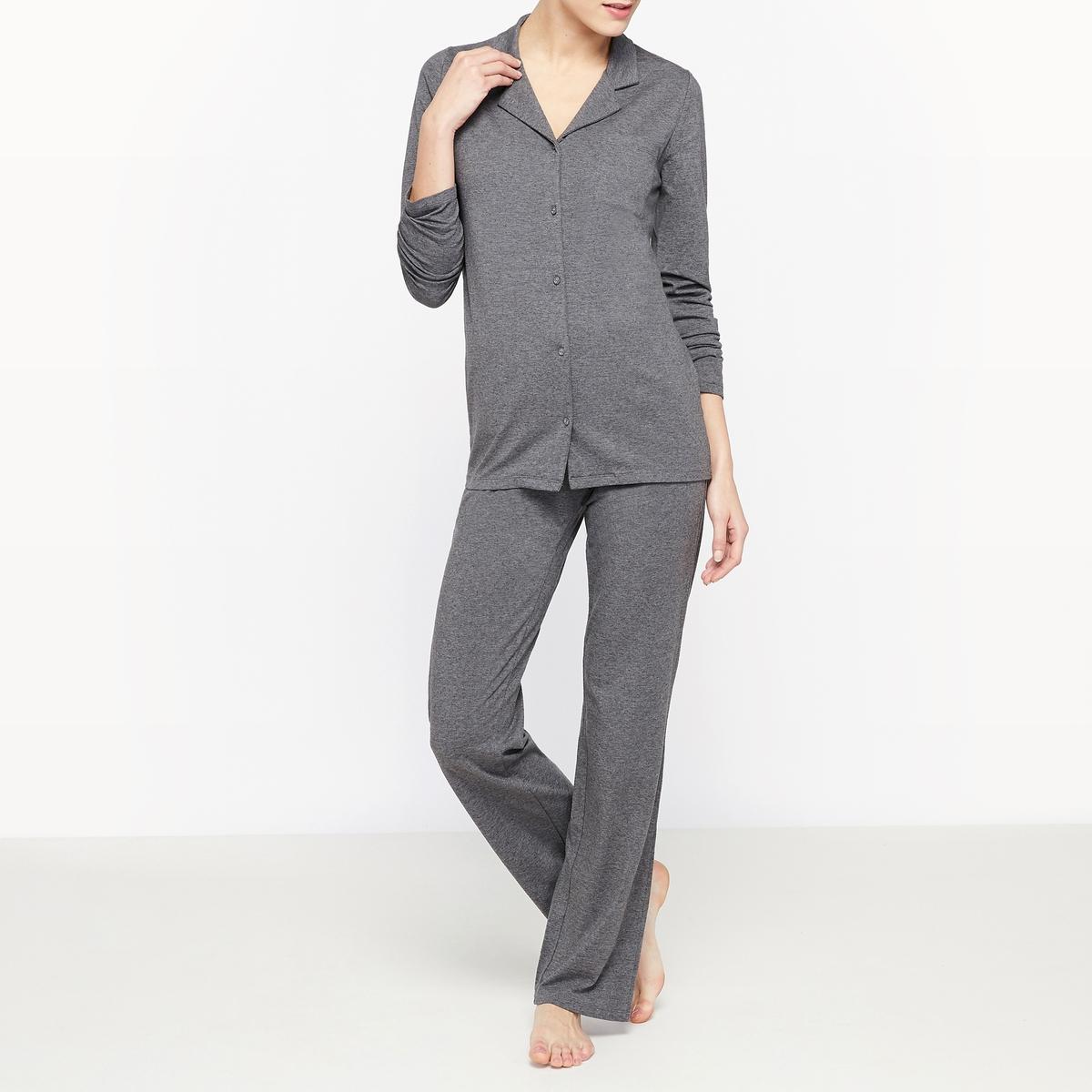 Пижама однотонная из джерси