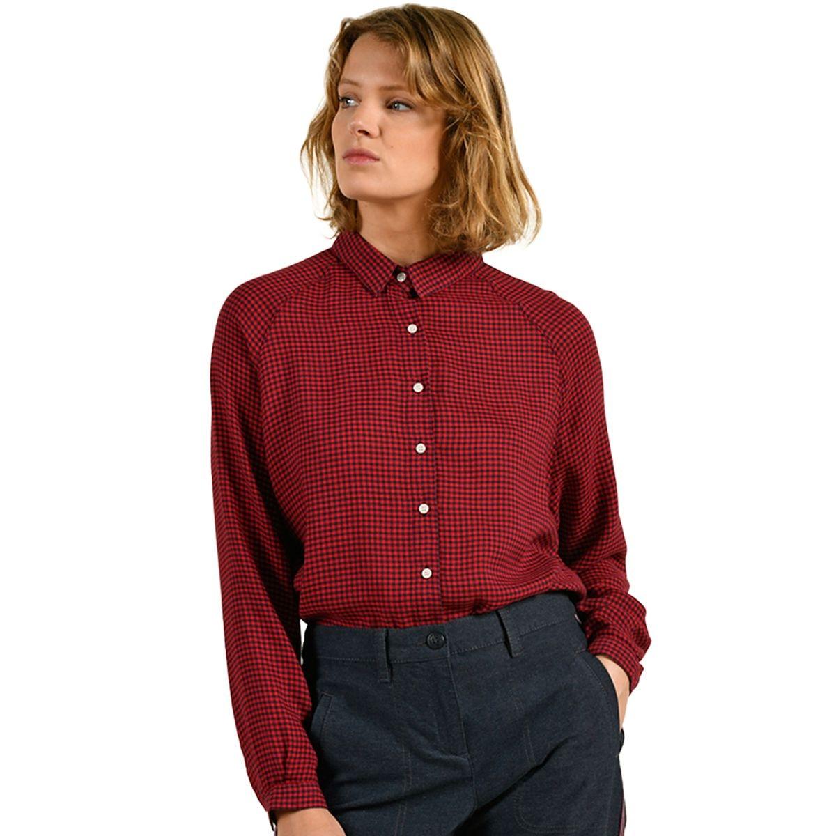 Chemise à petits carreaux oversize