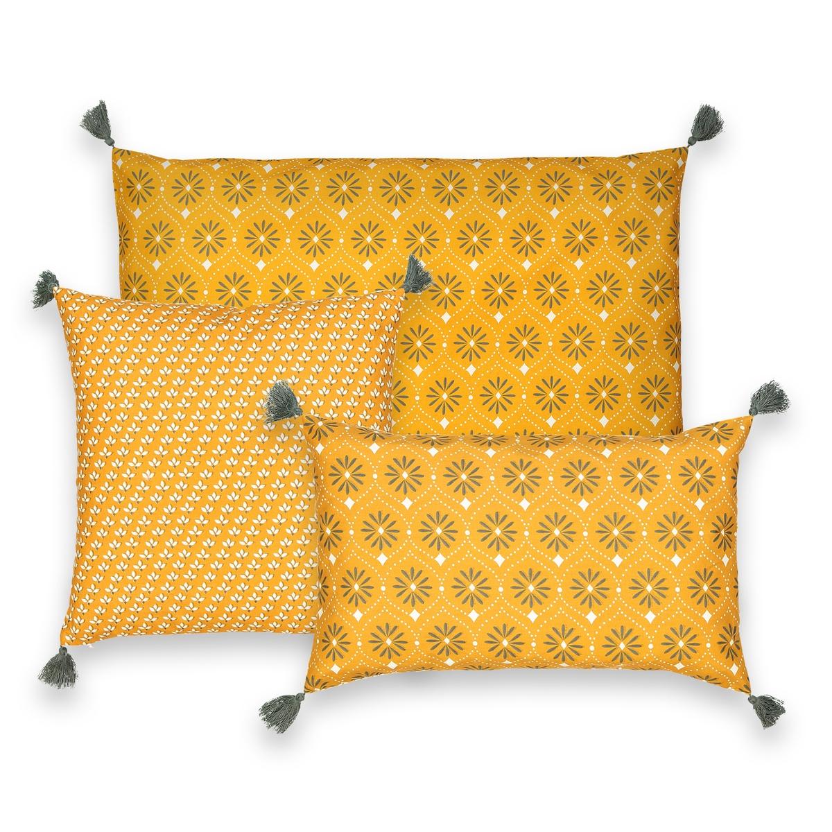 Чехол La Redoute На подушку LONIE 40 x 40 см бежевый наволочка la redoute из хлопка aliki 50 x 50 см бежевый