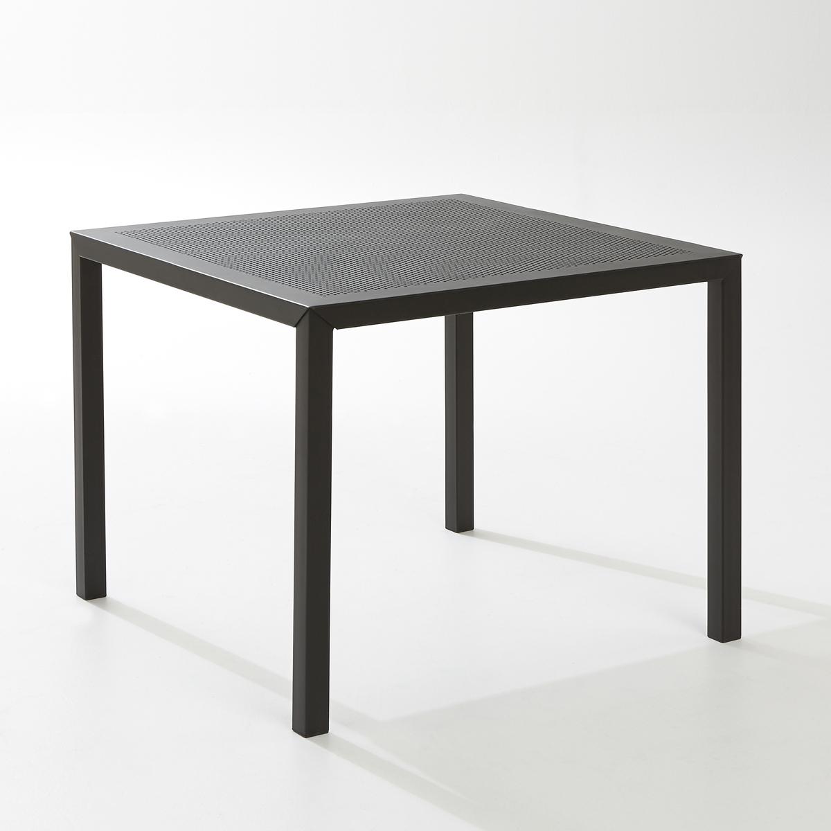Стол садовый квадратный из перфорированного металла, CHOEКвадратный садовый стол CHOE из перфорированного металла :Этот элегантный стол из металла с перфорацией станет настоящем украшением Вашего сада или террасы !Описание садового стола CHOE:Рассчитан на 4 персоны.Квадратной формыХарактеристики садового стола CHOE  :Столешница из перфорированного металла с покрытием эпоксидной краской.Каркас и ножки из металла с покрытием эпоксидной краской.Другие предметы мебели и декора для сада вы можете найти на сайте laredoute.ru.Размеры садового стола CHOE :Длина : 80 смШирина : 80 смВысота : 74 смРазмеры и вес упаковки :1 упаковкаДлина 92 см Ширина 86 смВысота 15,5 см17 кгДоставка:Товар продается в разобранном виде.  Возможна доставка до квартиры по предварительной договоренности! Внимание! Убедитесь, что доставка товара возможна, учитывая его габариты (проходит в дверные проемы, лифты, по лестницам).<br><br>Цвет: черный