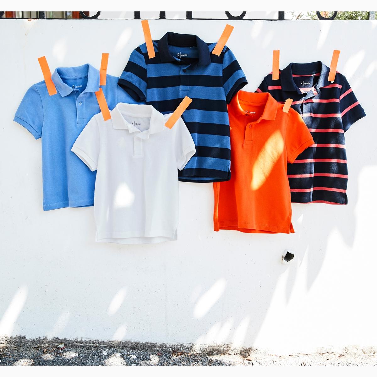 Футболка-поло однотонная из трикотажа пике 3-12 летОписание:Детали •  Короткие рукава •  Прямой покрой •  Классический воротникСостав и уход •  100% хлопок •  Температура стирки 30°  •  Сухая чистка и отбеливание запрещены •  Не использовать барабанную сушку •  Низкая температура глажки<br><br>Цвет: белый,оранжевый,синий морской,синий<br>Размер: 3 года - 94 см.6 лет - 114 см.5 лет - 108 см.8 лет - 126 см.6 лет - 114 см.5 лет - 108 см.4 года - 102 см.3 года - 94 см.8 лет - 126 см.6 лет - 114 см.5 лет - 108 см.4 года - 102 см.6 лет - 114 см.5 лет - 108 см.4 года - 102 см.10 лет - 138 см