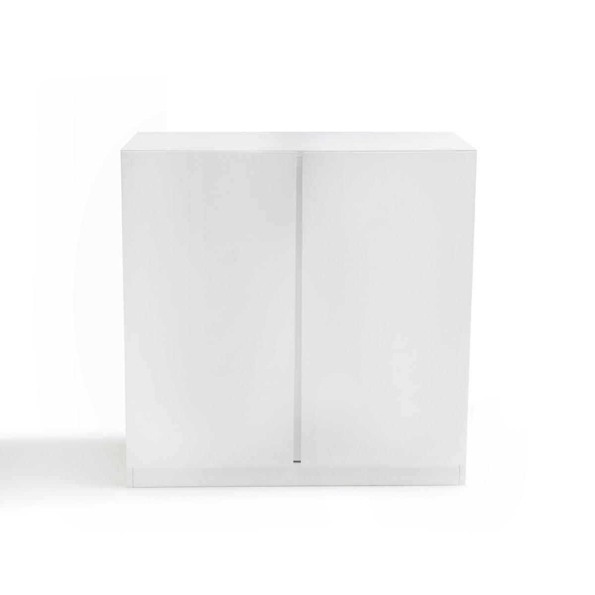 Шкаф LaRedoute Низкий с 2 дверцами LEO единый размер белый