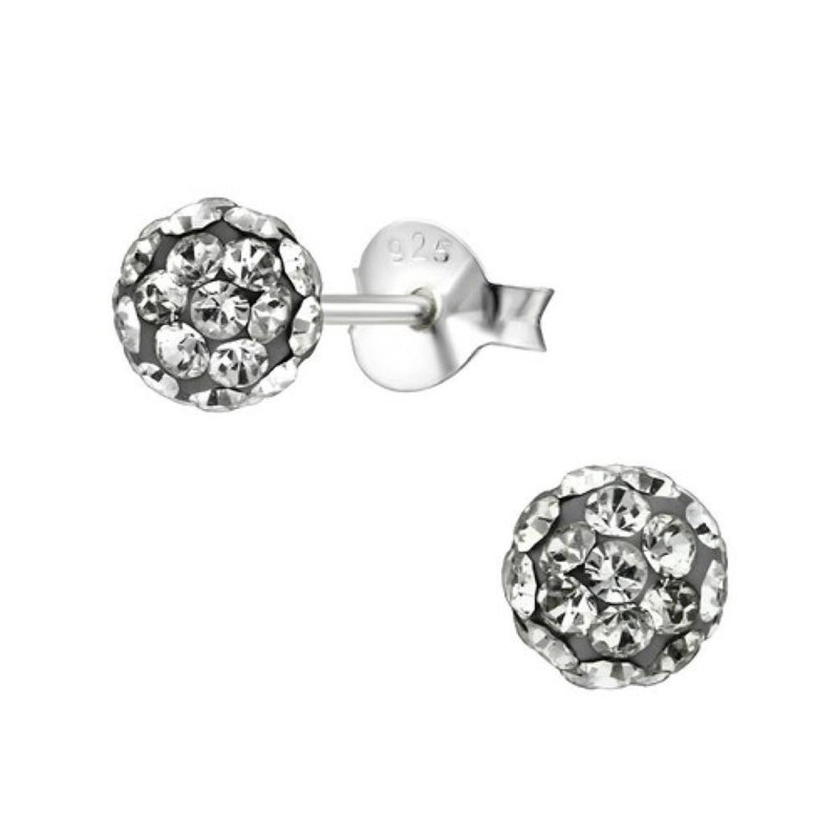 Boucles d'oreilles Boule 5 mm Anthracite Argent 925