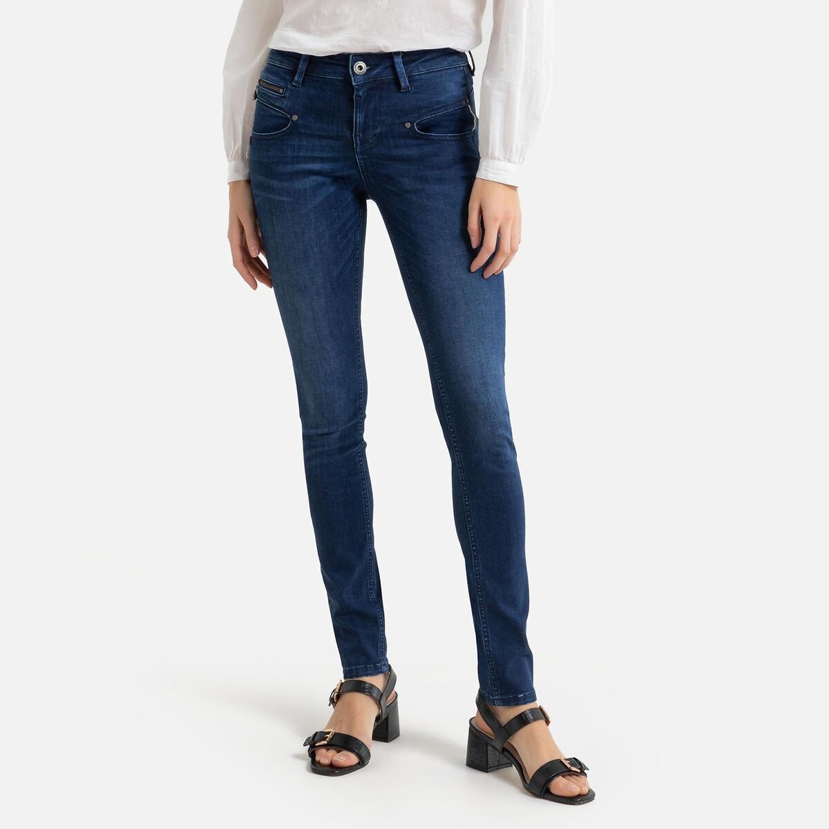 Джинсы La Redoute Узкие Alexa с завышенной талией M синий брюки la redoute широкие с завышенной талией и стилизованным рисунком m красный