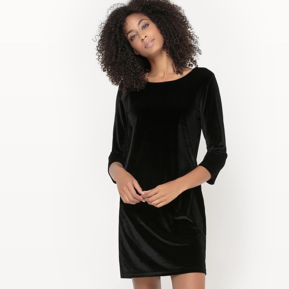 Платье с рукавами 3/4 VISIENNA DRESSПлатье с рукавами 3/4 VISIENNA DRESS от VILA . Платье прямого покроя, слегка приталенное . Из велюра. Круглый вырез. Состав и описание :Материал : 95% полиэстер, 5% эластанМарка : VILA.<br><br>Цвет: зеленый,черный<br>Размер: M.S