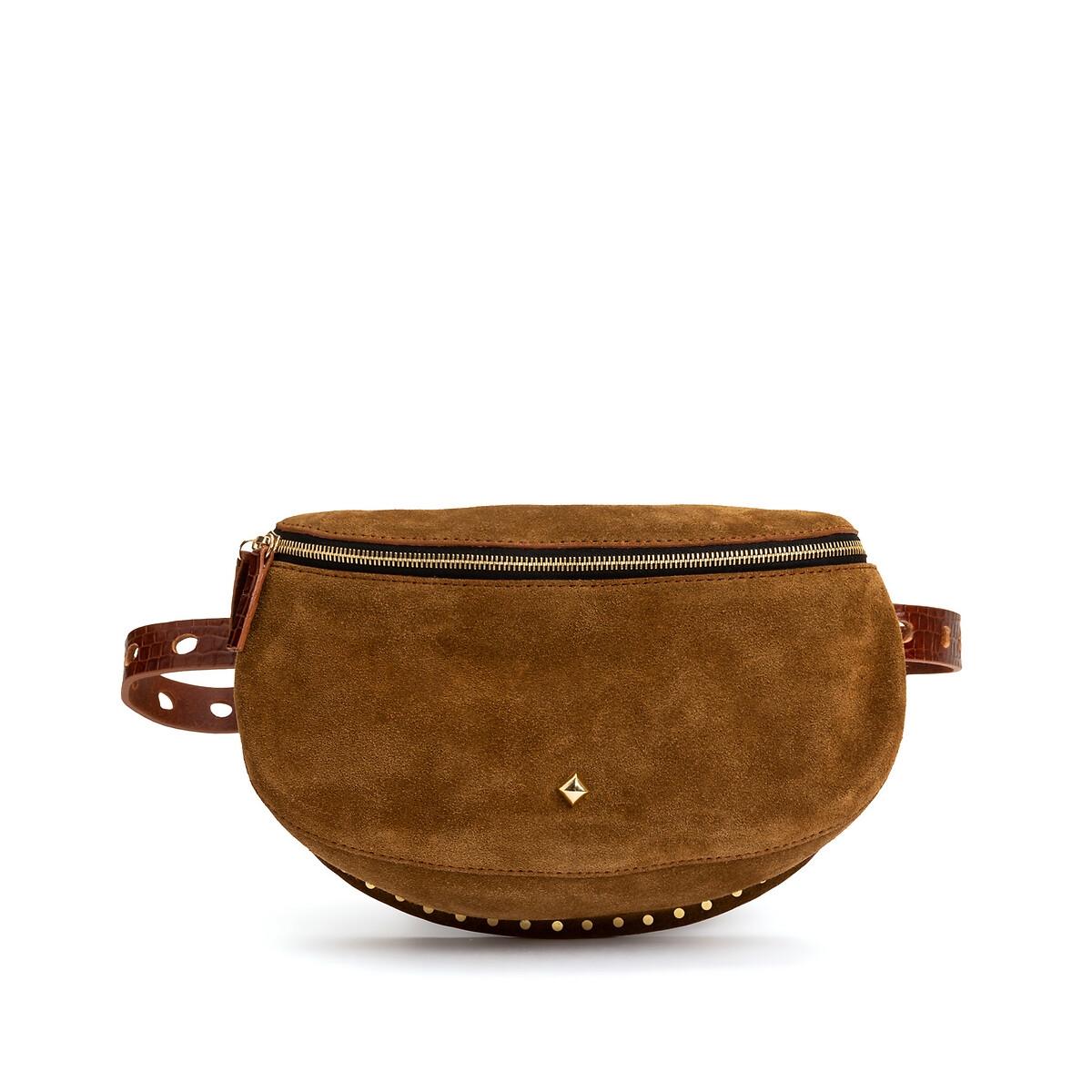 Сумка La Redoute Поясная на молнии из замши LA LILI VELOURS единый размер зеленый gedeon поясная сумка из натуральной кожи песочного цвета