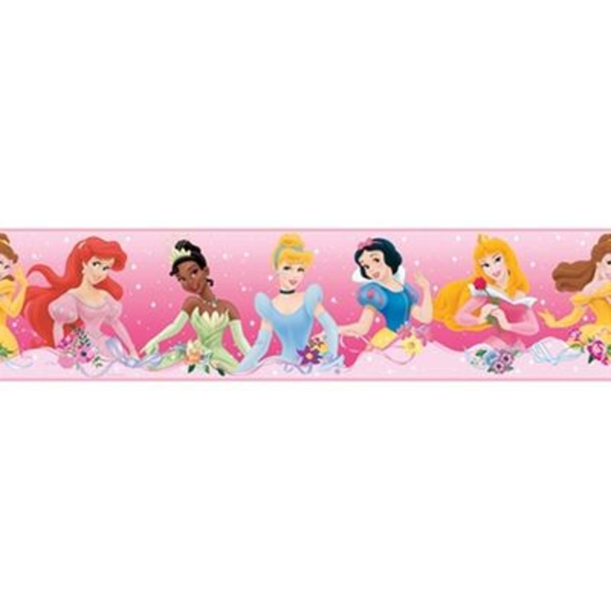 Frise repositionnable Princesse Disney Rose