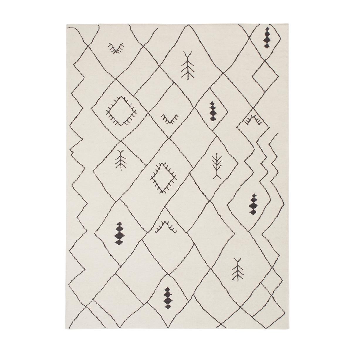 цена Ковер La Redoute Тканый ручной работы BARKHAM 120 x 170 см черный онлайн в 2017 году