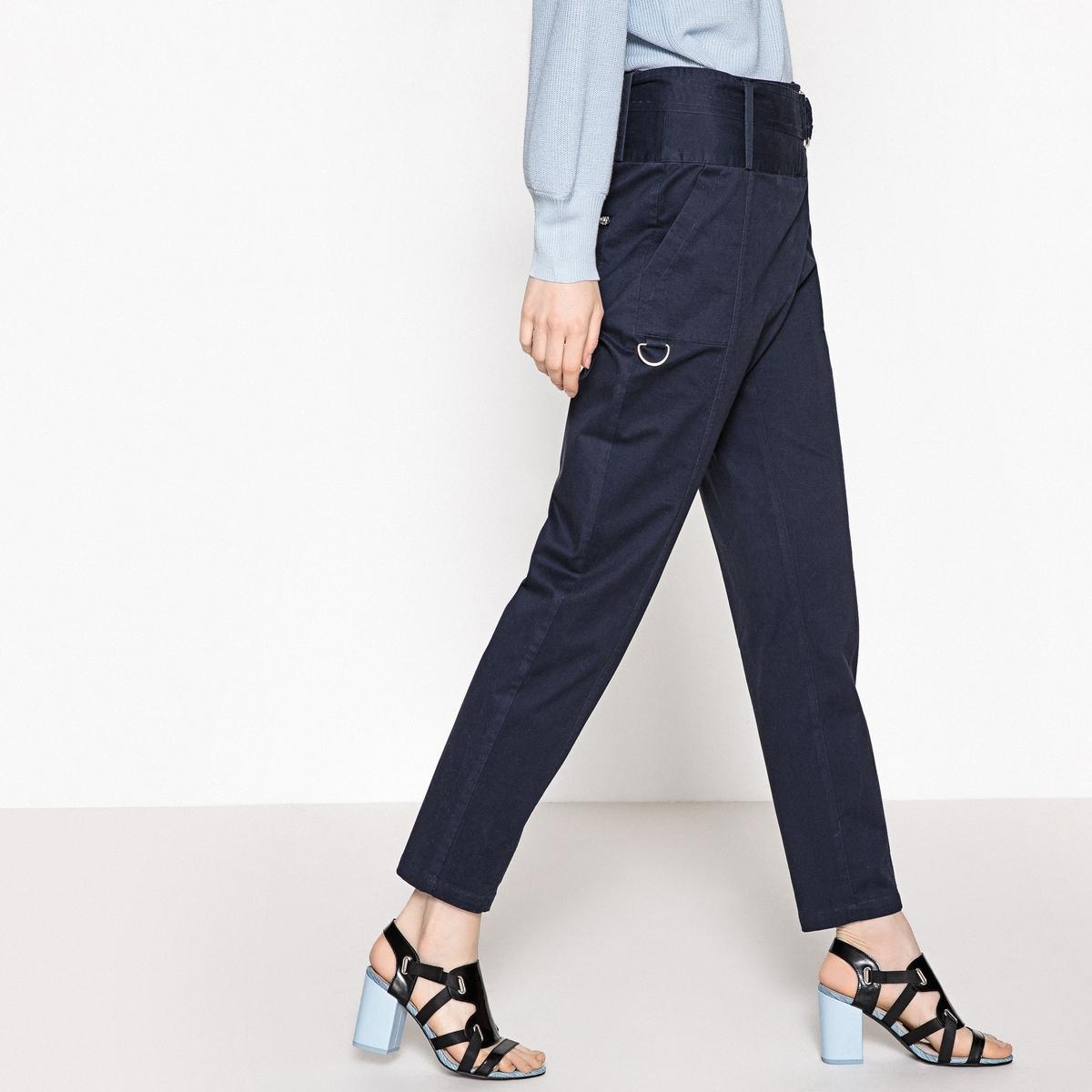Calças de cintura normal efeito envelope