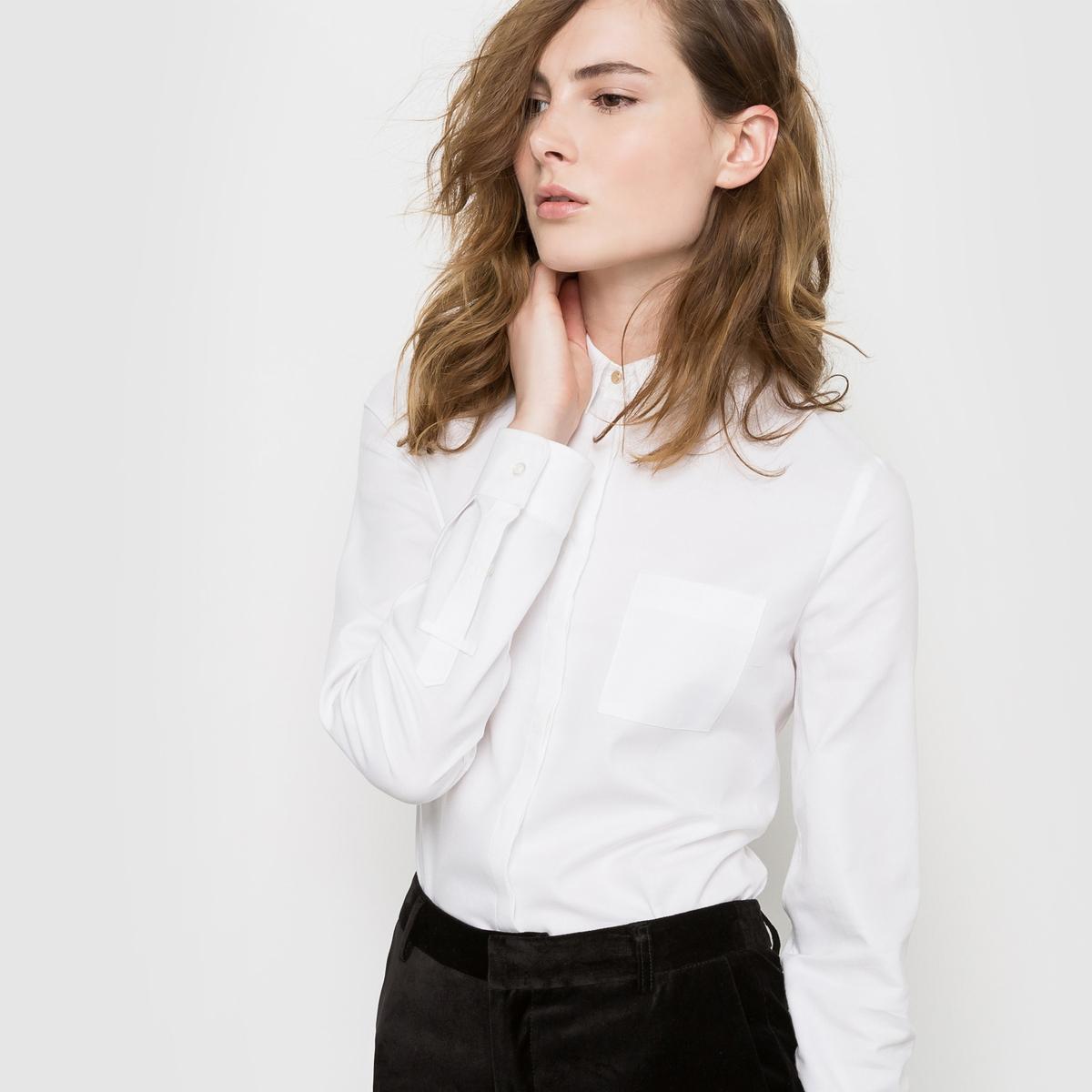 Рубашка прямого покроя из ткани оксфорд Качество Best