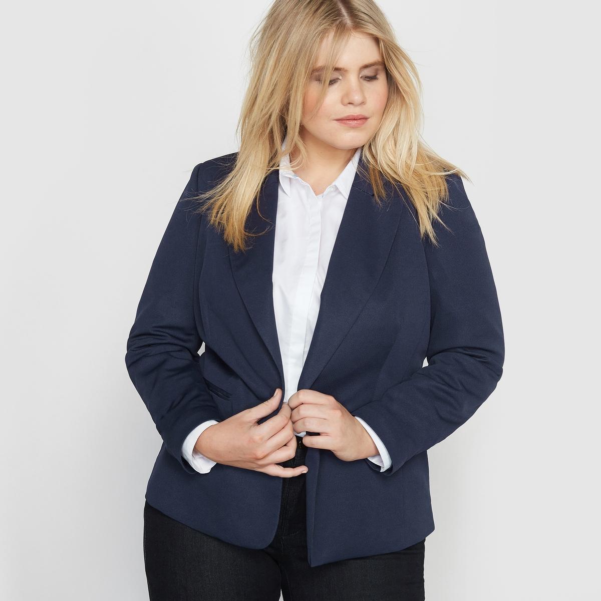 Жакет-пиджак из плетеного трикотажа стрейч