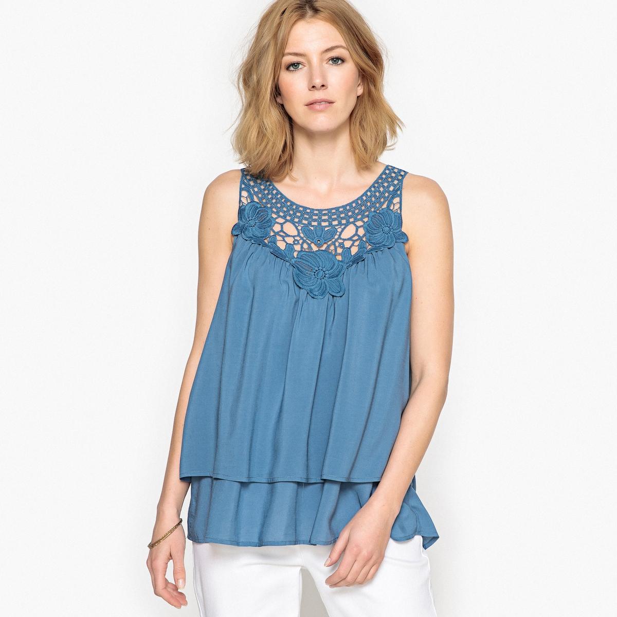 Блузка из струящейся ткани футболка в полоску из струящейся ткани