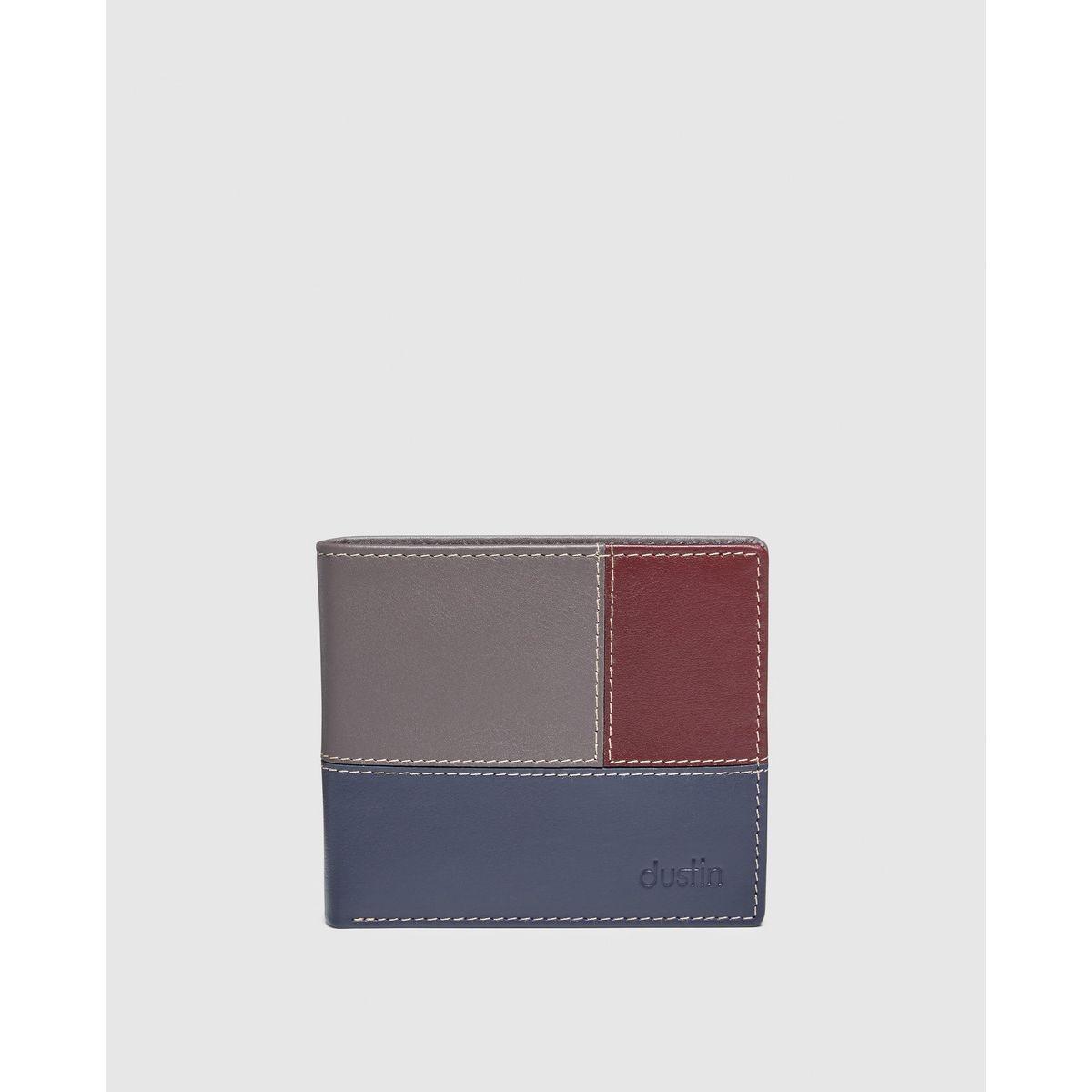 Portefeuille   marine, gris et