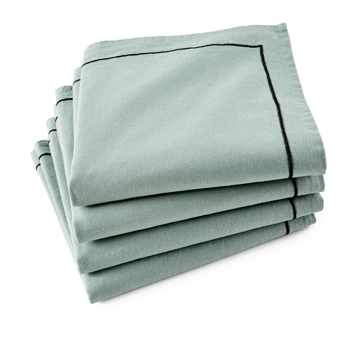 Набор La Redoute Из салфеток Mtis Bourdon 45 x 45 см зеленый комплект из салфеток из la redoute льна и хлопка border 45 x 45 см бежевый