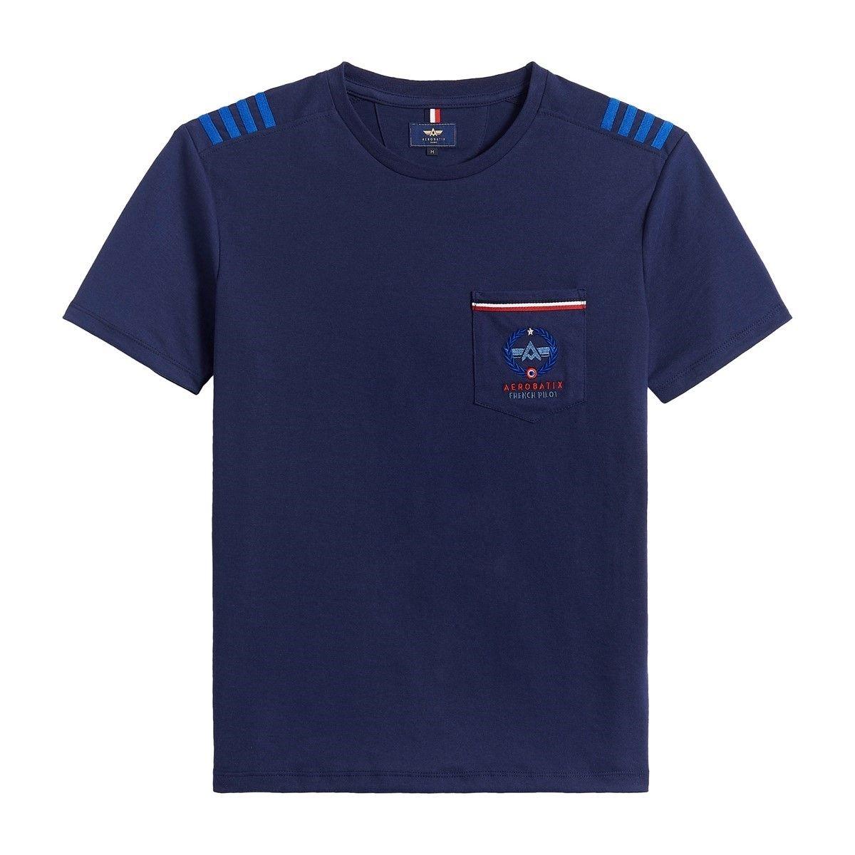 T-Shirt aviateur à poche et galons de captain ECHO GOLF