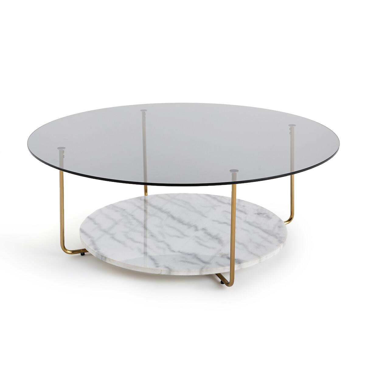 Стол La Redoute Журнальный из мрамора и стекла Moricio единый размер белый