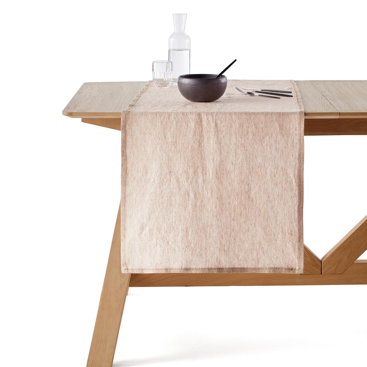 Дорожка столовая из льна 52x200 см, Chandraki дорожка столовая éventail