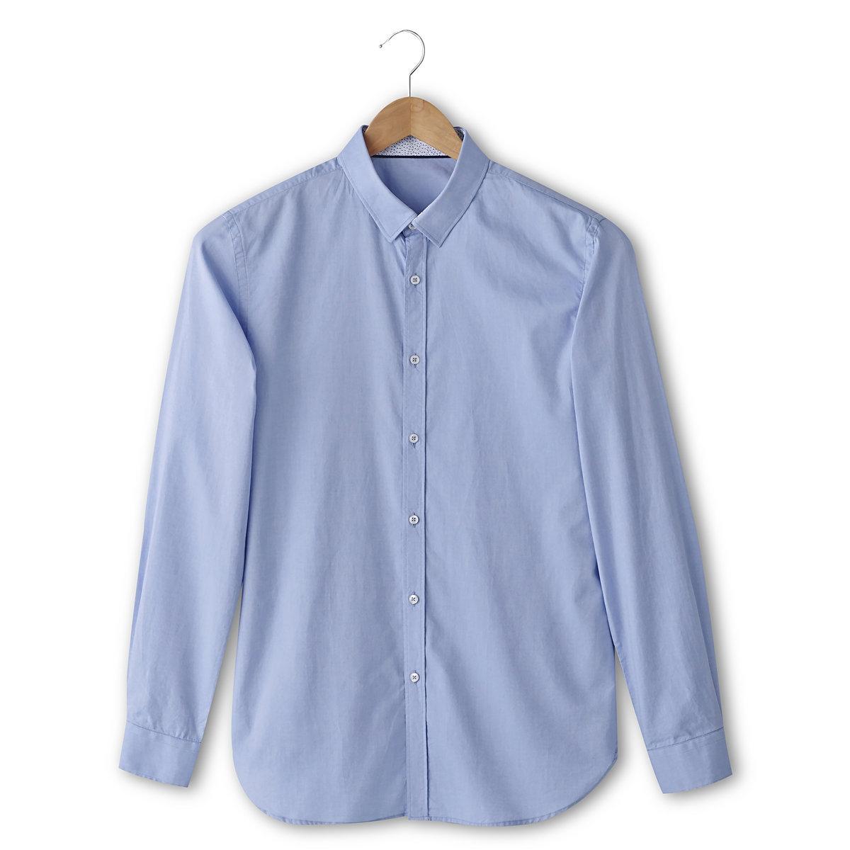Рубашка-оксфорд, 100% хлопкаРубашка-оксфорд Esprit, 100% хлопка. Длинные рукава и манжеты с застежкой на пуговицы. Свободные уголки воротника.<br><br>Цвет: небесно-голубой<br>Размер: M
