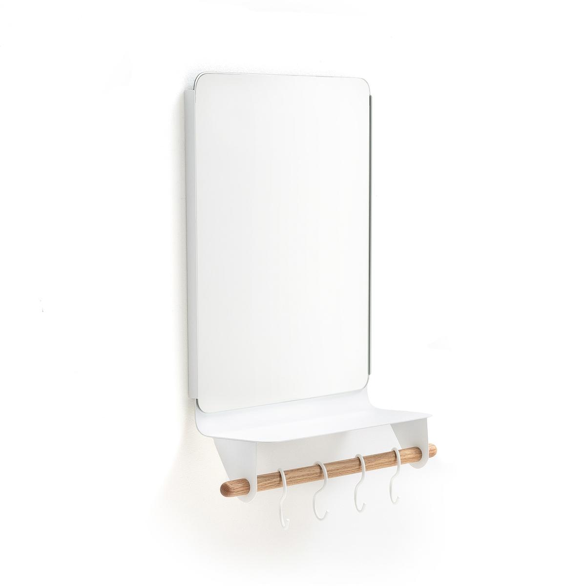Зеркало для прихожей с полкойОписание:Зеркало для прихожей с полкой . Очень удобна для размещения на крючках платков, шляпы, жакета и для ваших ключей . Это зеркало создаст роскошную атмосферу в вашей прихожей !Характеристики зеркала для прихожей : Зеркало прямоугольной формы1 полка из металла толщиной 2 мм 1 перекладина из дуба с 4 крючками из металла крепится на стену Шурупы и дюбели продаются отдельно  Размеры зеркала :Длина : 40 см. Ширина : 0,3 см Высота : 30 смРазмеры перекладины :30 см x Диаметр. 1,9 см Размеры крючка :Диаметр. 0,4 смОбщие размеры зеркала для прихожей :Длина : 37,5 см Глубина: 13,5 см Высота : 53 смРасцветка : текстиль для ванной Размеры и вес ящика :1 ящик 58,5 x 35,5 x 15,3 см .3,15 кг Доставка :До Вашей квартиры по договоренности!Внимание ! Убедитесь, что посылку возможно доставить на дом, учитывая ее габариты.<br><br>Цвет: белый