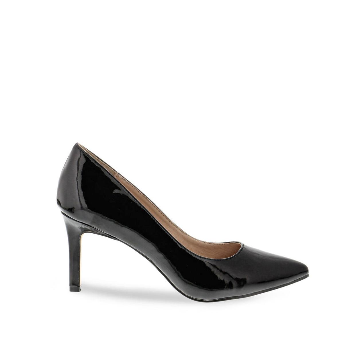 Туфли кожаные H733-C002A-4Верх : синтетика   Подкладка : Кожа.   Стелька : синтетика   Подошва : синтетика   Высота каблука : 7 см   Форма каблука : шпилька   Мысок : заостренный мысок     Застежка : без застежки<br><br>Цвет: черный<br>Размер: 39