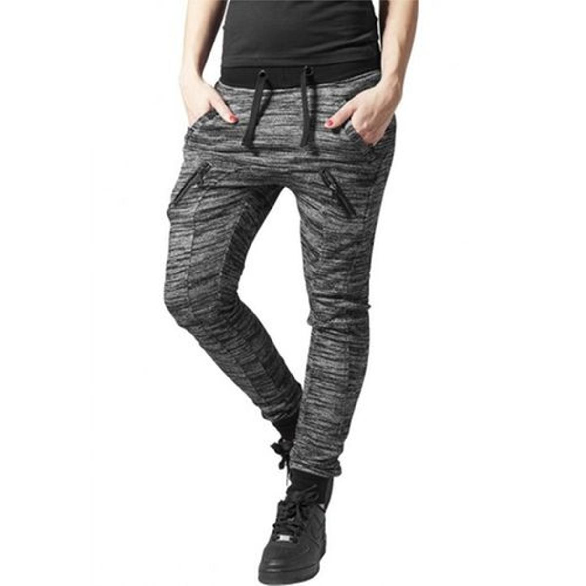 Bas de jogging chiné avec poches zippées