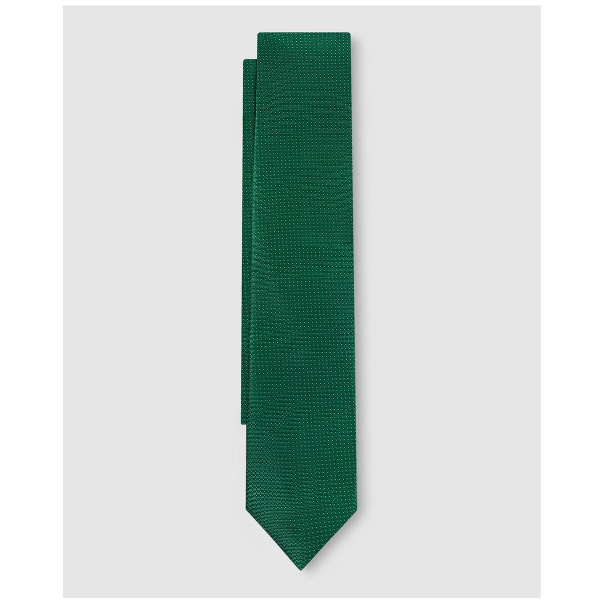 Cravate en soie texturée