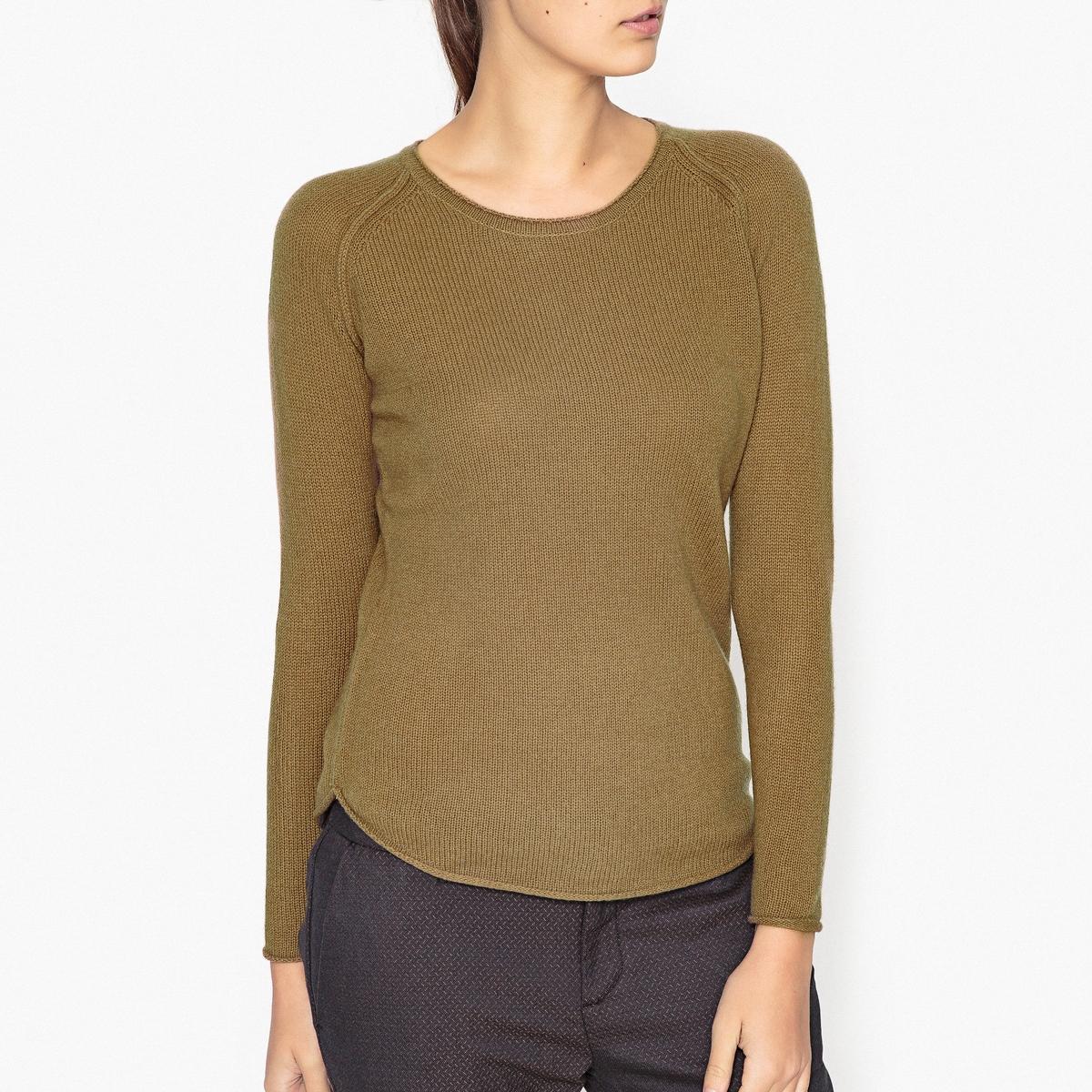Пуловер из шерсти и кашемира меланж EXABIRD