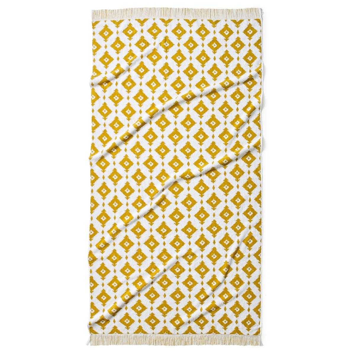 Полотенце пляжное из жаккарда IKAОписание:На выходных или каникулах, пляжное полотенце Ika из мягкой жаккардовой ткани с модными этническими мотивами будет как никогда кстати.Характеристики пляжного полотенца Ika:Махровая ткань с жаккардовым рисунком, 100 % хлопок, 500 г/м?.Графический рисунко с отделкой бахромой.Машинная стирка при 60 °С и барабанная сушка.Размеры полотенца Ika:90 x 180 смНайдите всю коллекцию Ika на сайте laredoute.ruЗнак Oeko-Tex® гарантирует, что в проверенных изделиях отсутствуют вредные для здоровья человека вещества.<br><br>Цвет: насыщенно-желтый/белый,серо-синий/белый