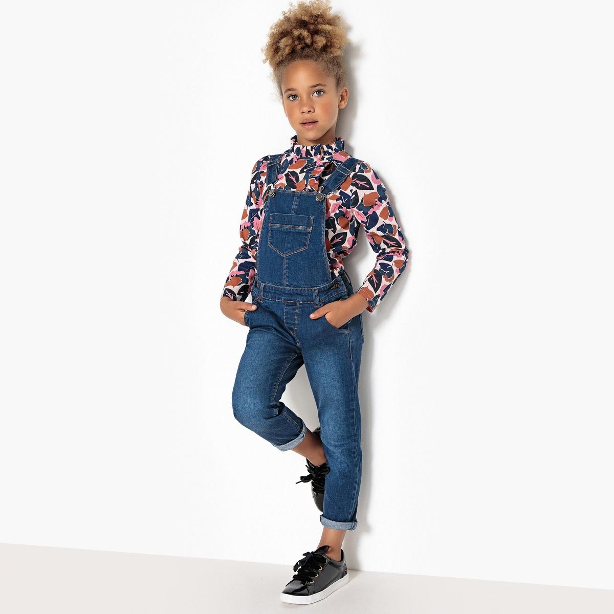 Комбинезон джинсовый, 3-12 лет жакет джинсовый pinner прямой покрой