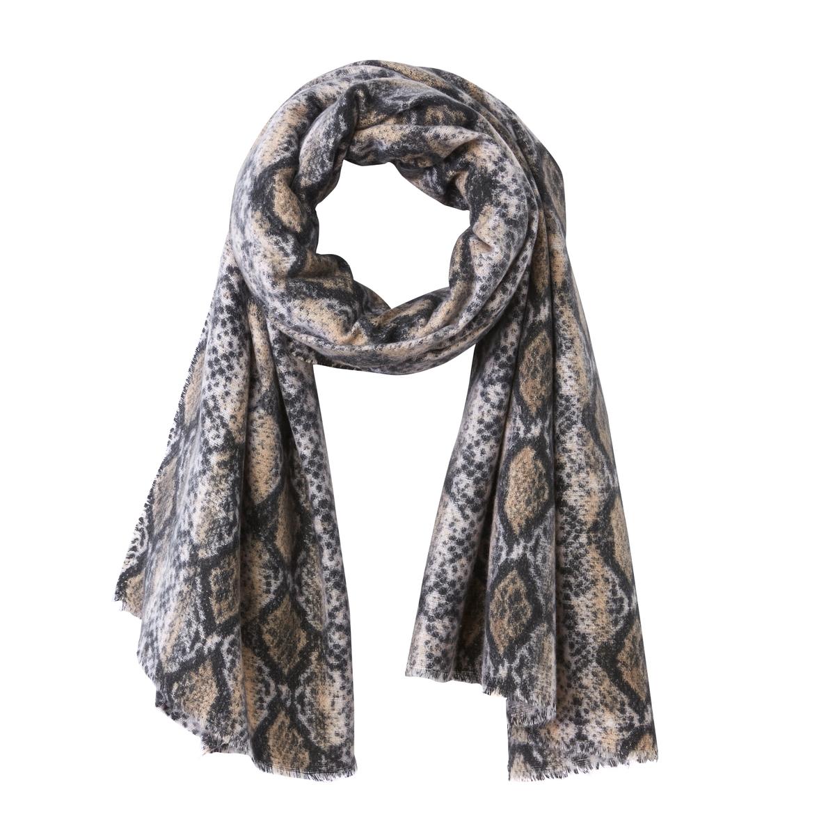 Fulard con estampado pitón