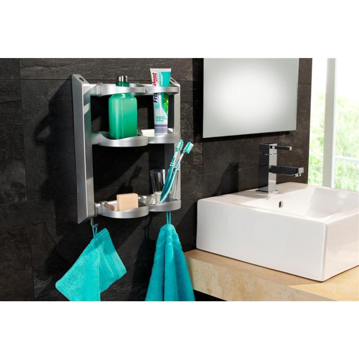 Этажерка для ванной модульная, Ar?gloХарактеристики модульной этажерки для ванной, Ar?glo:4 отделения.2 полки для флаконов с гелем и 2 подставки.2 крючка для банных рукавиц.Подвешивается или крепится к стене.Каркас из пластика и алюминия с покрытием от ржавчины.Найдите другие предметы мебели для хранения на сайте laredoute.ru.Размеры модульной этажерки для ванной, Ar?glo:Д. 31 x В. 38 x Г. 12 см.Вес 0,700 кг.<br><br>Цвет: белый,серебристый<br>Размер: единый размер