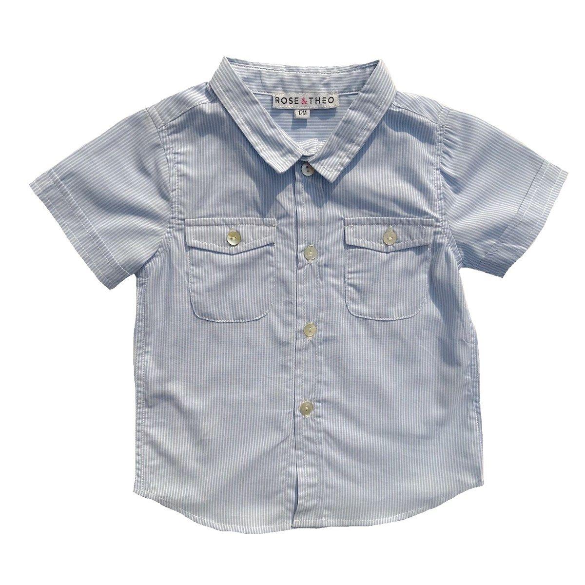 Chemise en coton motif à rayures LENNY