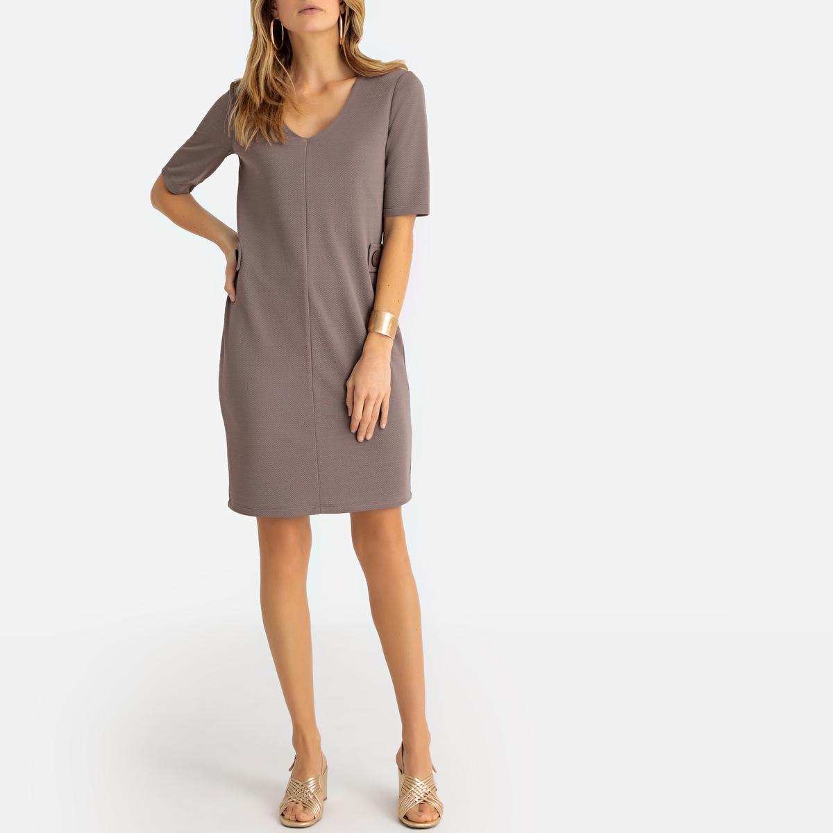 Imagen principal de producto de Vestido recto de punto con relieve - Anne weyburn