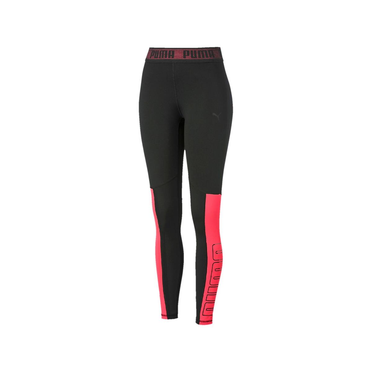 Leggings deportivos tobilleros con logotipo en la cintura