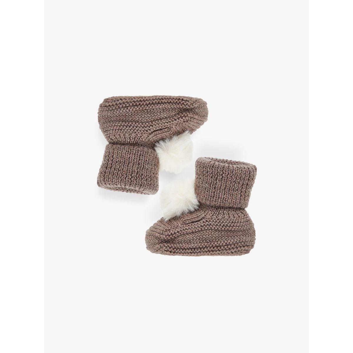 Pantoufles maille en laine
