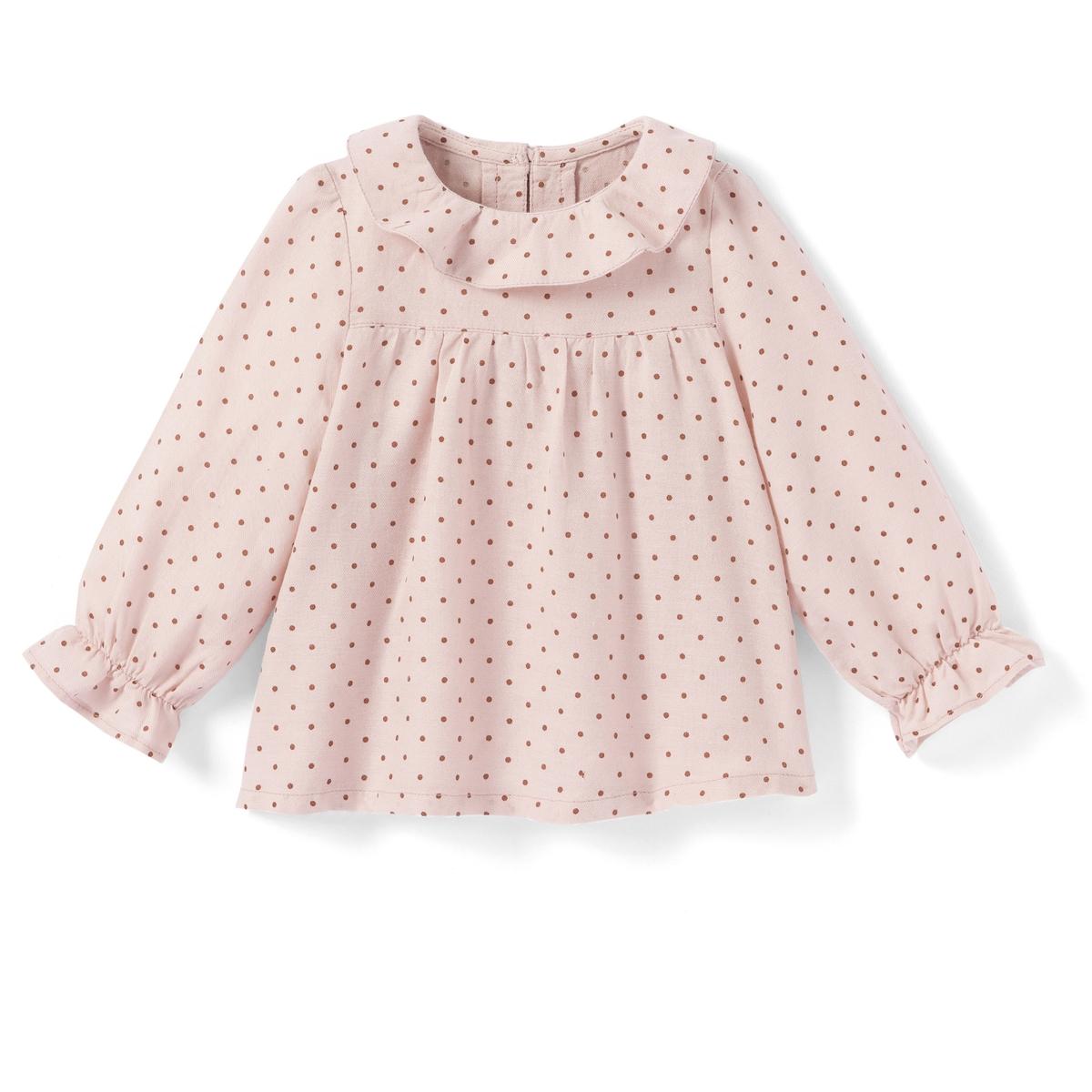 Блузка с рисунком в горошек, 1 мес. - 3 года