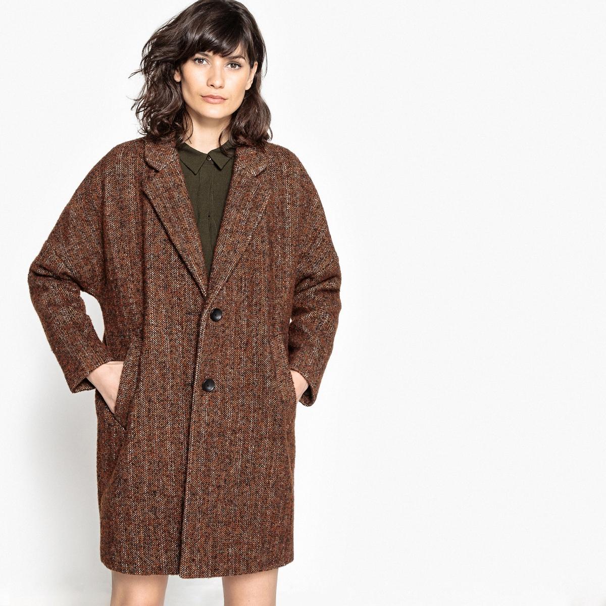 Пальто женское оверсайз средней длины