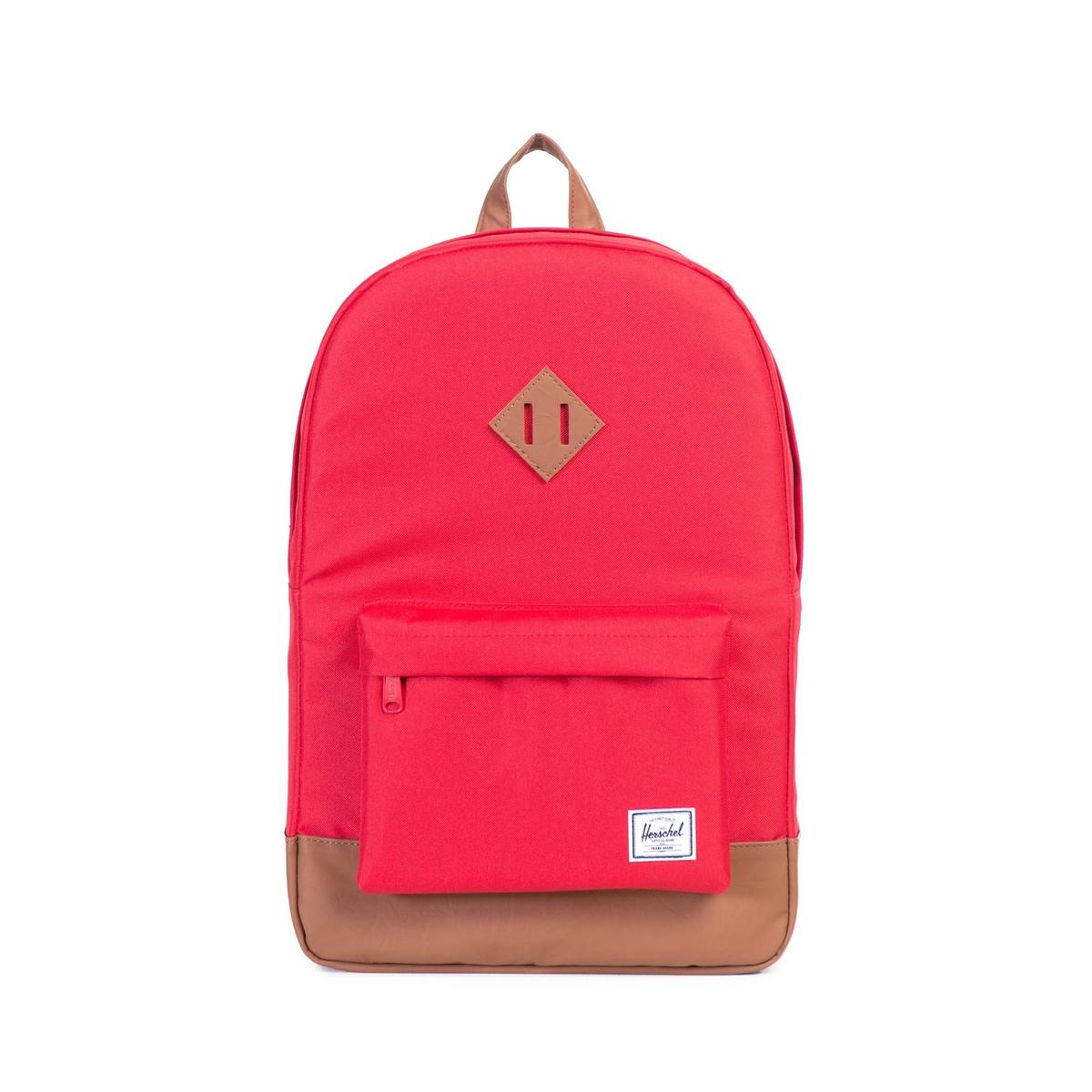 Рюкзак для ноутбука HERITAGE 21,5лСостав и описание                  Материал : текстиль 100% полиэстера.                 Подкладка 100% полиэстер                 Размеры : 45 x 30 x 13 см.                 Застежка : на молнию                 Марка : HERSCHEL<br><br>Цвет: красный