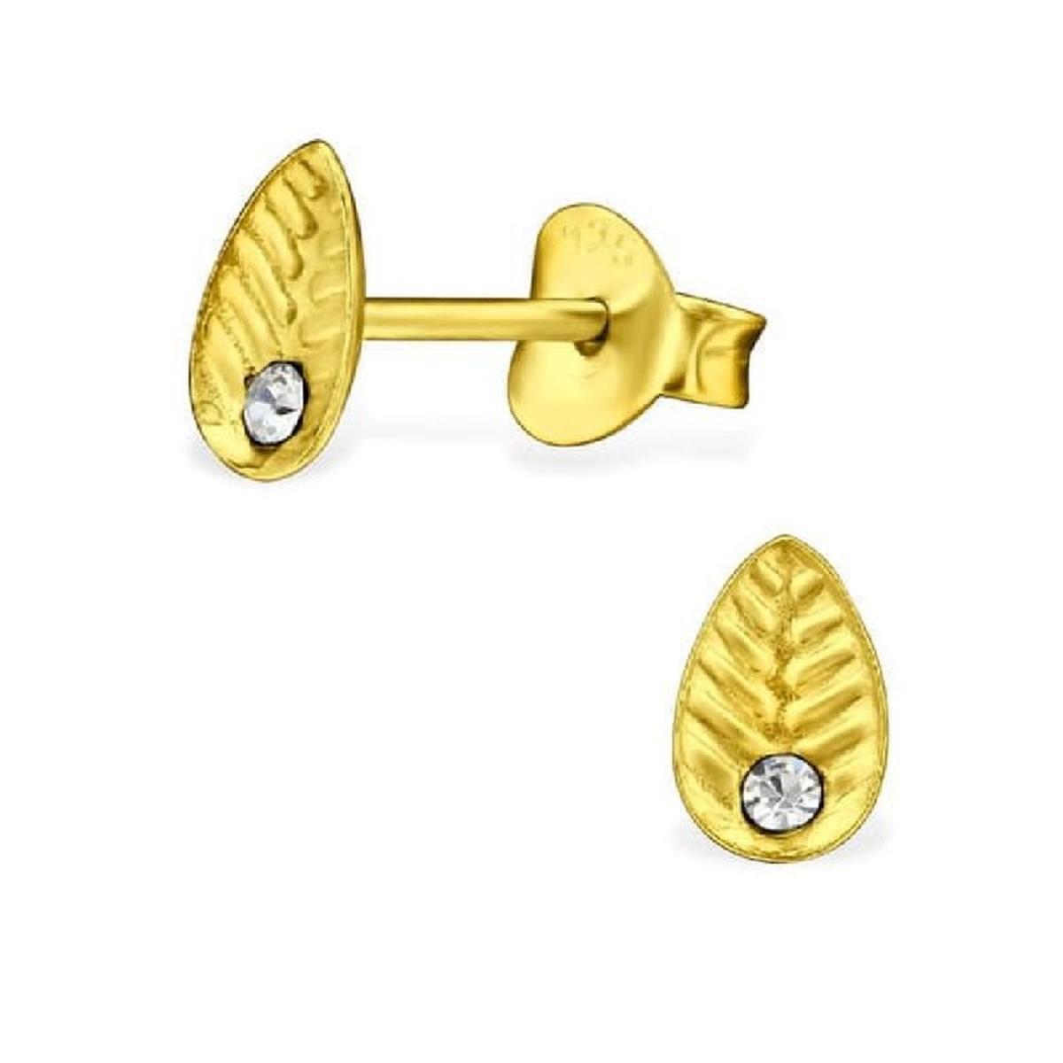 Boucles d'oreilles Feuille Argent 925