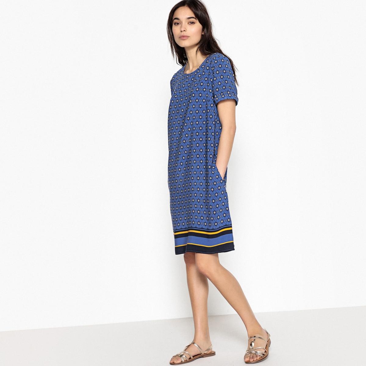 Платье-футляр с этническим рисунком