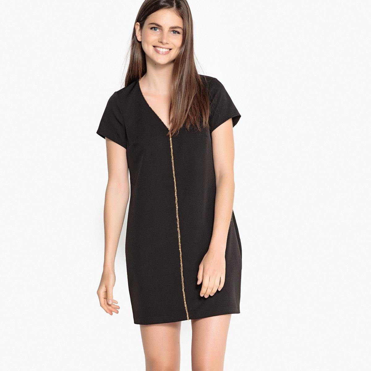 Платье прямое укороченное с короткими рукавами LPB WOMAN