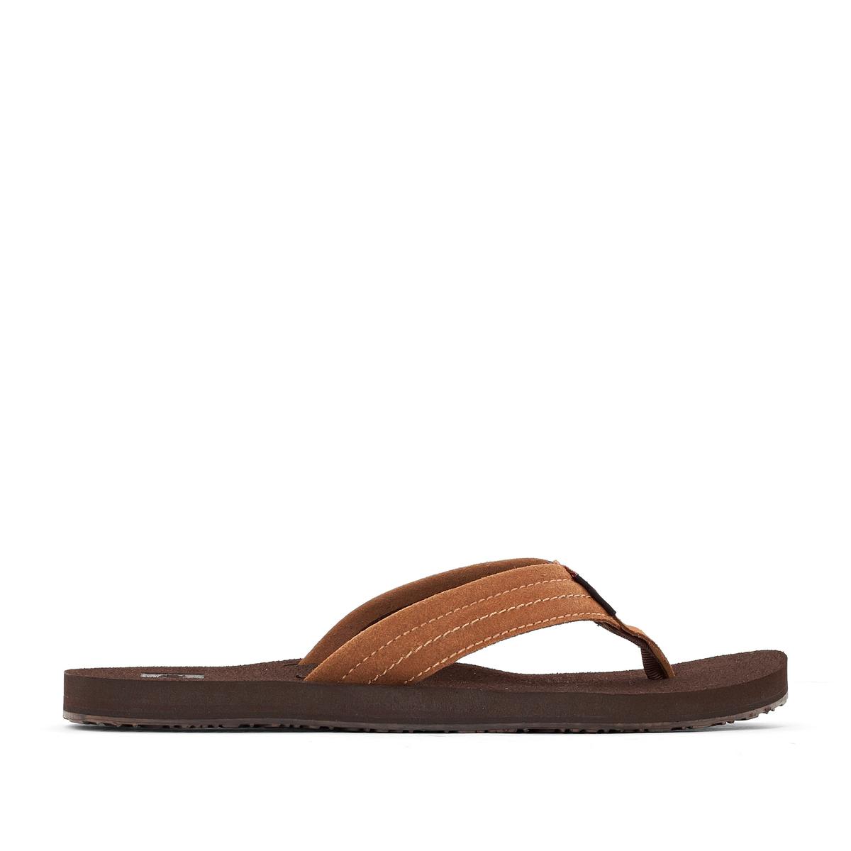 Вьетнамки SmokeyВерх/Голенище : кожа   Стелька : кожа   Подошва : каучук   Форма каблука : плоский каблук   Мысок : открытый мысок   Застежка : без застежки<br><br>Цвет: каштановый