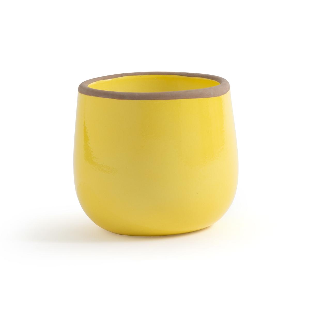 Кашпо La Redoute Из цветной керамики Mallow единый размер желтый кашпо la redoute из керамики в см euphyllia единый размер синий